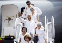 Victims of Colombia's conflict with the FARC arrive in Cartagena. (Photo courtesy Presidencia de la Republica)