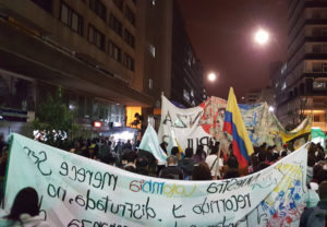 Tens of thousands march towards the Plaza de Bolívar to support peace with FARC. Photo: Andy East.