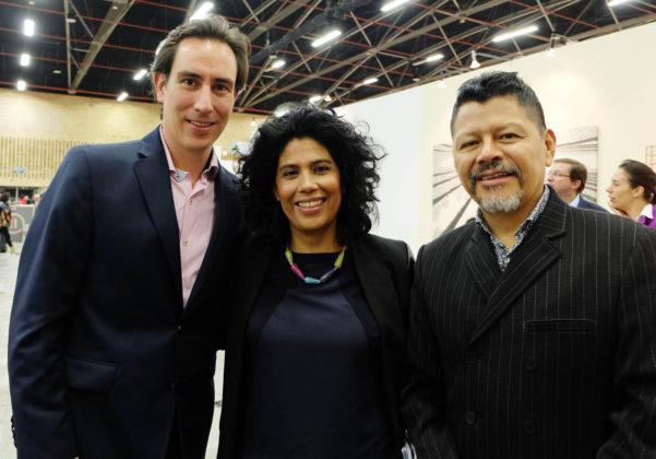Alejandro Guttierez, Zoraida Iguarán, Carlos Jacanamijoy,