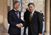 President Santos meets with the mayor of London during a state visit to the UK. (Photo credit Presidencia de la República)
