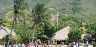 The beaches of Taganga, near Santa Marta in Colombia