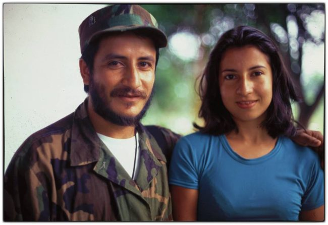 "FARC commander ""Ivan Ríos"" and girlfriend ""Andrea"" in the Cagúan."
