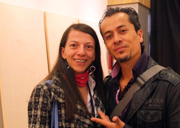 Viviana Sánchez, John Galindo.